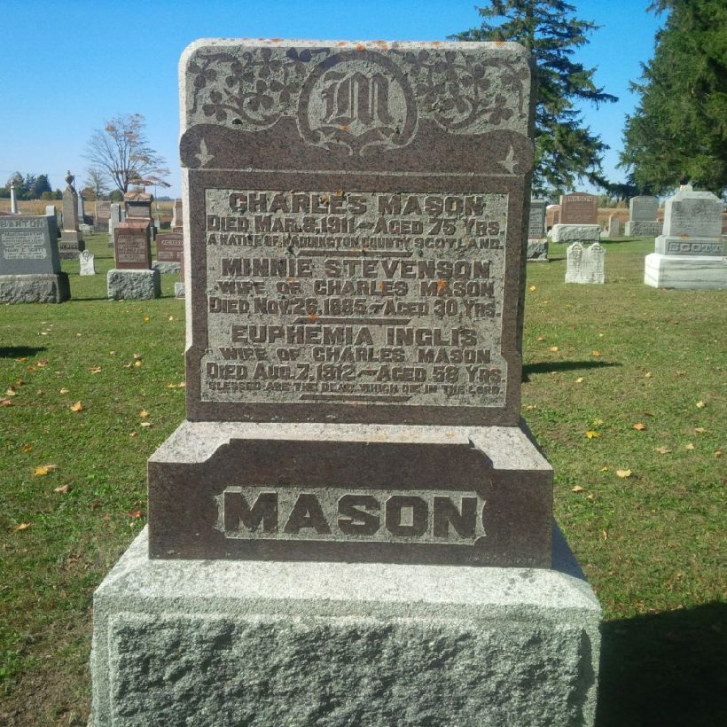 Charles Mason's Headstone in Donegal Cemetery