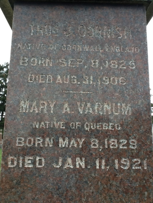 Mary Ann Varnum, Mary Ann Cornish