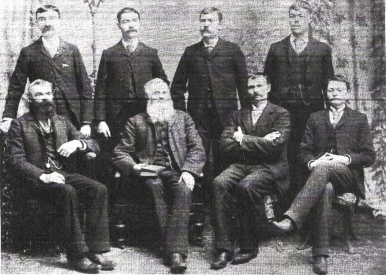 Back: Wesley, Martin, Tom, Arthur Front: Albert, Thomas James Sr., Saul, Porter