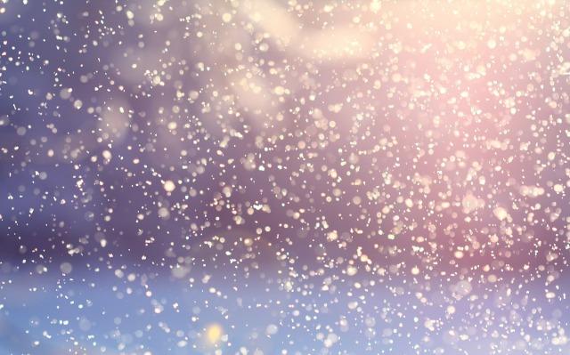 Soft snow falling
